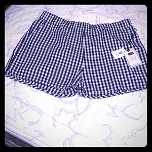 US Polo Assn blue gingham shorts